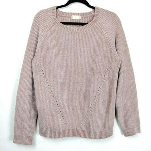 Altar'd State Dusty Pink Raglan Pullover Sweater